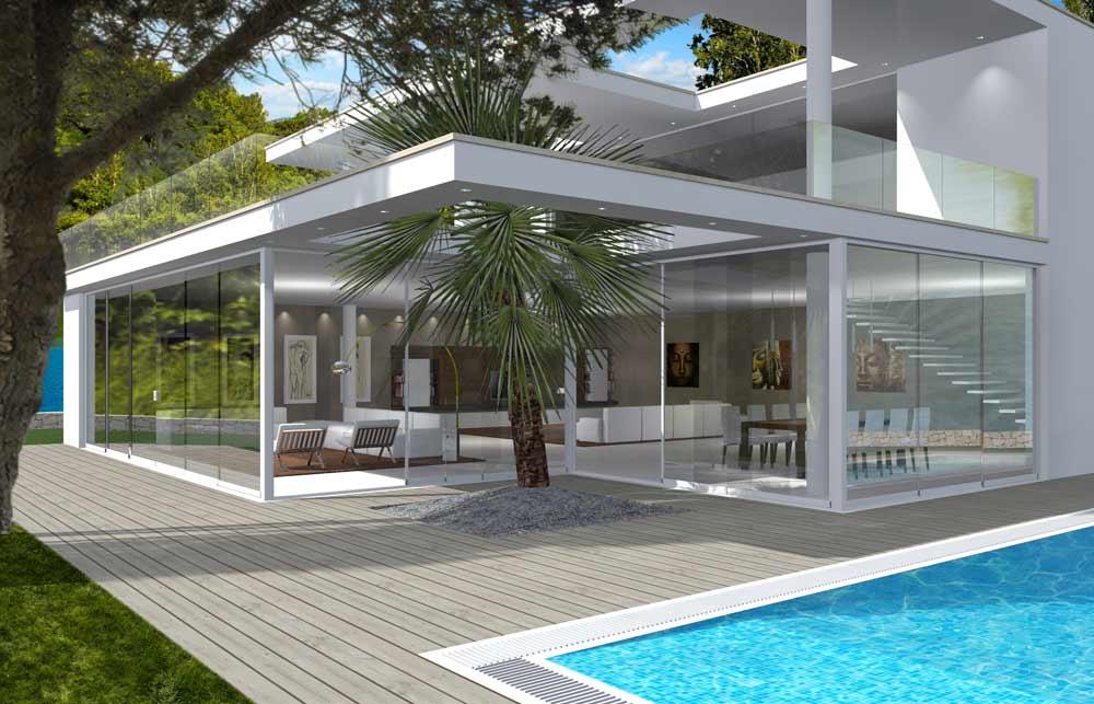 Beautiful coperture terrazzi in vetro pictures idee arredamento copertura